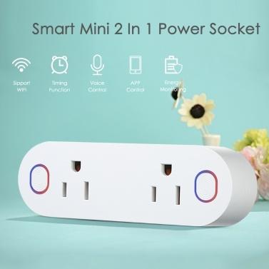 58% OFF Mini 2 in 1 WIFI Smart Plug Socket Wireless,limited offer $16.09