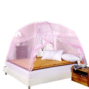 Summer Bi-parting Folding Mesh Insect Bed Mongolian Yurt Mosquito Net(1.5M)
