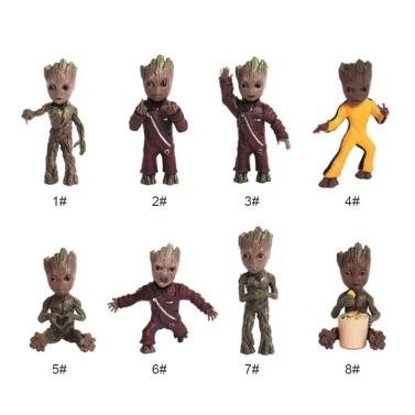 Wächter der Galaxis Vol. 2 Schöne Baum Mann Groot Schlüsselanhänger Cute Baby Grunt Schlüsselanhänger Action-figur Anhänger Groot Ornament