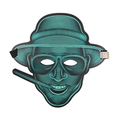 LED Voice-aktivierten Glow Maske Festival Performance Party EL Masken
