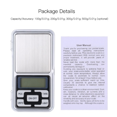 High Precision Mini Electronic Digital Scales 100g/0.01g