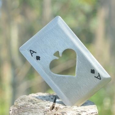 Outdoor Stainless Steel Beer Bottle Opener Card Poker