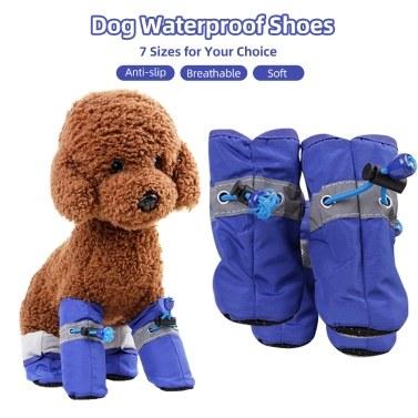 Hund wasserdichte Schuhe Haustier Regen Schuhe