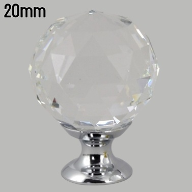 Cabinet Pull Knob Crystal Glass Ball Handles