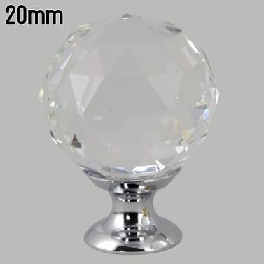 Cabinet Pull Knob Crystal Glass Ball Handles