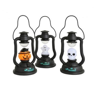 Hallo-ween Kürbislaterne Mit Batterie betriebene Leuchte mit Kürbismotiv Unheimlich leuchtende Laterne für die Hallo-ween-Partydekoration