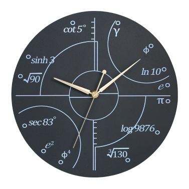 Kreative Wanduhr-Art-hölzerne Mathe-Uhr