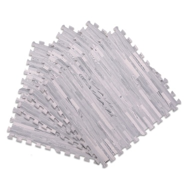 4 Stück Schaumstoff-Fußmatten Gedruckt Holz Dick Übungsmatte