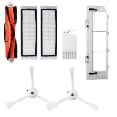 Roboterstaubsaugerfilter Seitenbürsten Hauptbürsten-Kit 7-tlg. Ersatzzubehör für XIAOMI Roborock S55 S50 S51 Roboterstaubsauger