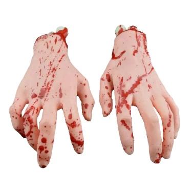Halloween Horror Adereços Falso Braço Humano Mãos Sangrento Assustador