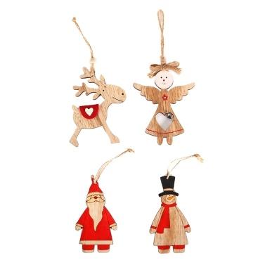 Weihnachten Holzpuppe Anhänger Weihnachtsbaum