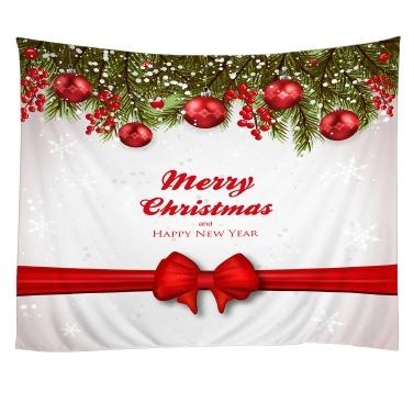 Weihnachten Wandteppiche Wandbehang Kunst Tapisserie Polyester Weihnachten Kamin Tapisserie Tischdecke