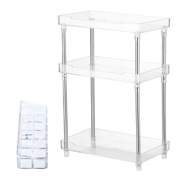 3 Tier Transparent Plastics Storage Organizer 3 Schichten Makeup Storage Rack Holder