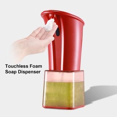 280 ml automatischer Schaumseifenspender Infrarot Handfreier berührungsloser Seifenspender Dish Foam Lotion Gel Auto Handseifenspender für die Küche im Badezimmer