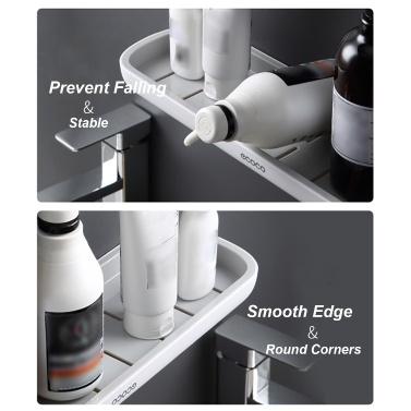 Badezimmerregal Wand-Duschwanne ohne Bohren Duschablagekorb Küchenlagerregal Duschorganisator für Shampoo-Conditioner Seifentücher