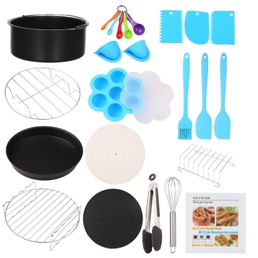 17Pcs BBQ Grill Accessories Fryer Tools Set Stainless Steel Grilling Tools Professional Grill Mats