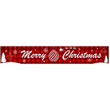 9.84ft Merry Christmas Banner Hanging Christmas Decor