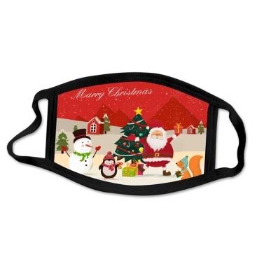 1 confezione di maschere per la bocca anti-polvere maschere protettive per la moda di buon Natale