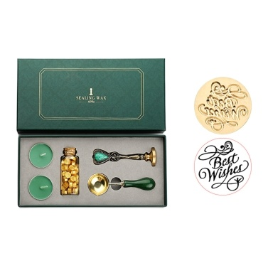 Retro Letters Wax Seal Stamp Set