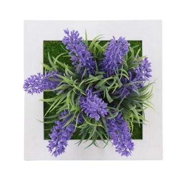 Plantas de simulação artificiais 3D decoração de parede / flores de mesa Faux Plants Photo Frame for Home Office Desk decoração de parede presente