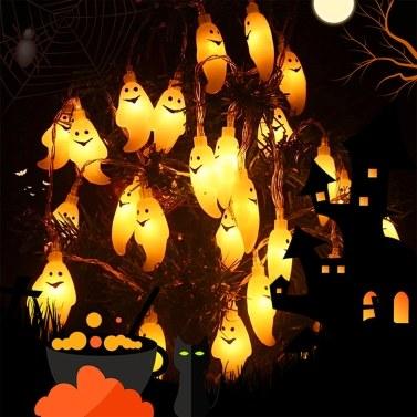 Гирлянды для Хэллоуина, 20 светодиодов, 10 футов, водонепроницаемые мерцающие огни, с питанием от батареек (батарея в комплект не входит)