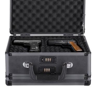 iKayaa Doppelseitige Aluminiumhartpistole Handgun Fall