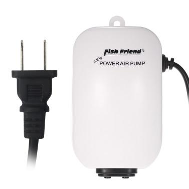 Ultra Silent Aquarium Air Pump Double Outlet 3W 220-240V EU Plug Fish Tank Oxygen Airpump