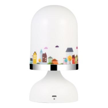 Beweglicher USB-nachladbarer Erschütterungs-Sensor-Baby-Raum-hängendes LED-Nachtlicht-Kinderzimmer-Schlafzimmer-Lampen-Gelb-Licht
