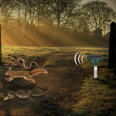 41% OFF Solar Powered Ultrasonic Snakes Rodents Repeller,limited offer $13.99