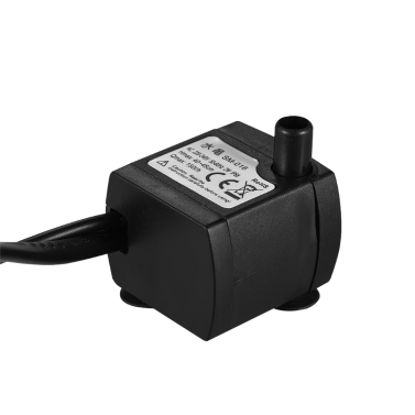 150L/H 2W Submersible Water Pump with 4 LED Light Ultra Quiet for Pond Aquarium Fish Tank Tabletop Fountain Hydroponics 4.9ft (1.5m) Power Cord