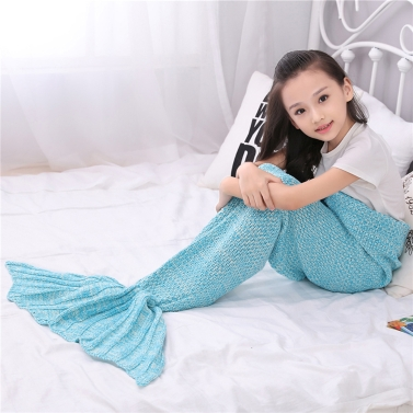 Handcrafted Knit Blanket Mermaid Tail Blanket,limited offer $14.99