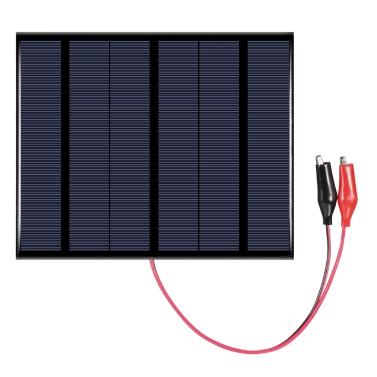 Polykristalliner Silikon-Sonnenkollektor 3.5W 18V mit Krokodilclip-Solarzelle für DIY Energie-Ladegerät