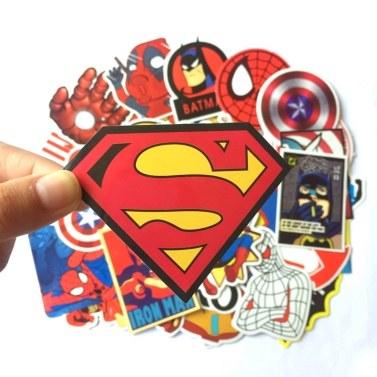 50 Pcs Stickers For Super Hero Cartoon