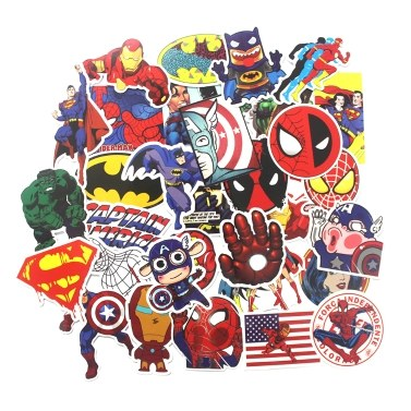 41% OFF 50 Pcs Stickers For Super Hero Cartoon,limited offer $1.99