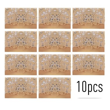 10pcs Pearl Paper Floral Einladungskarten