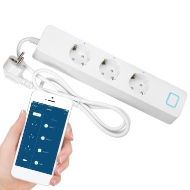 AC 100-240V Smart-Wi-Fi-Steckdosenleiste Unabhängige Steuerung Sprachsteuerung Kompatibel mit Alexa / Google-Startseite