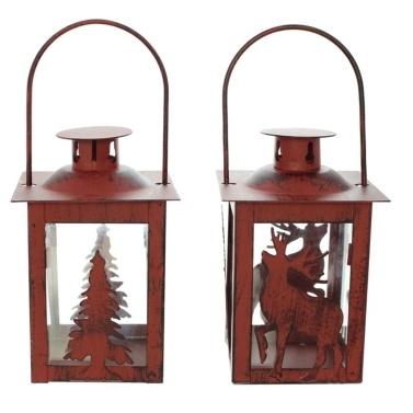 Weihnachtskerzenhalter Glas Metall Kerzenhalter