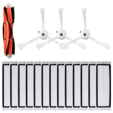 Roboter-Staubsauger-Filter Seitenbürsten Hauptbürsten-Kit 17-tlg. Ersatzzubehör für XIAOMI Roborock S55 S50 S51 Roboter-Staubsauger