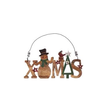 Kreative Weihnachten hölzerne Glocke Anhänger Santa Schneemann