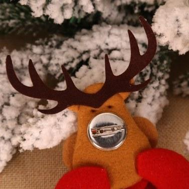 Brosche Abzeichen leuchtende Glocke Santa, Schneemann, Elch, Bär Puppe Anhänger Weihnachtsschmuck Weihnachten Kind Geschenk