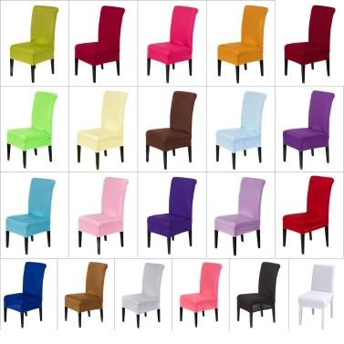 Universal Abnehmbare Waschbar Elastische Tuch Stretch Stuhlbezug Schonbezug 21 Farben Erhältlich Hause Esszimmer Hotel Hochzeitsbankett Partydekorationen