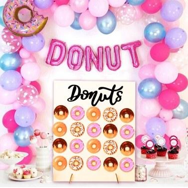 Holz Donut Wandhalterung Donut Halter Hochzeit Dekoration Geburtstag Lieferungen