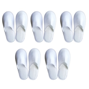 5-pair Free-size Disposable Slippers for Home Hotel Homestay Traveling