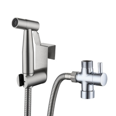 Handheld Bidet Sprayer for Toilet Baby Cloth Diaper Sprayer with Hose 7/8 Separator Bracket Stainless Steel Cleaner for Bathroom Toilet