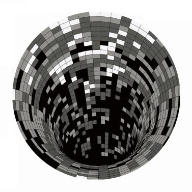 3D Space Round Carpet Checkered Vortex