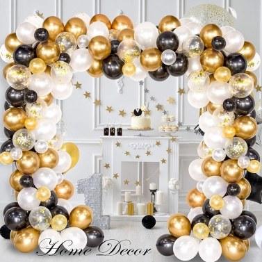 120PCS Black Gold Balloons Party Decorations Set