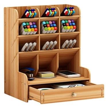 Wooden Desktop Organizer____Tomtop____https://www.tomtop.com/p-h38842.html____