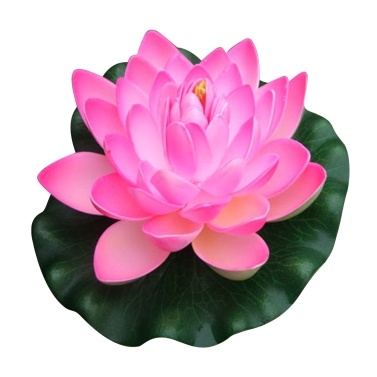 7 Inch Artificial Floating Lotus