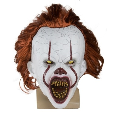 Halloween Mask Creepy Pennywise Scary Clown