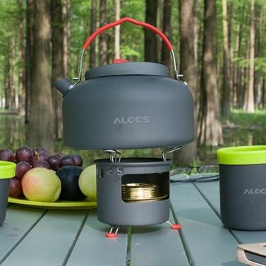 Outdoor Kettle Camping Picnic Water Teapot Coffee Pot  0.8L Aluminum Pot